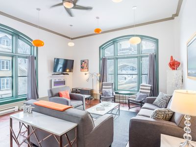 Photo for Central, modern and Spacious 3-Bedroom Condo in Old Quebec