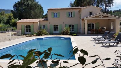 Photo for SUPERB VILLA WITH VIEWS OF THE MOORS SOLID IN PEACE 10 MIN GOLF ST TROPEZ