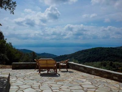 Photo for Country cottage for 2 persons - Country cottage with sea view near Platanias / South Pelion