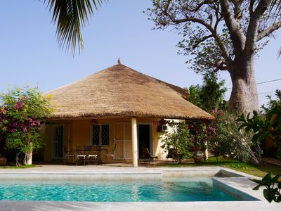Photo for New villa with terrace, private pool and garden. 492 feet away from the beach