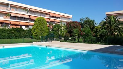 Photo for Antibes residence with pool, tennis, very large terrace, garden, prox sea