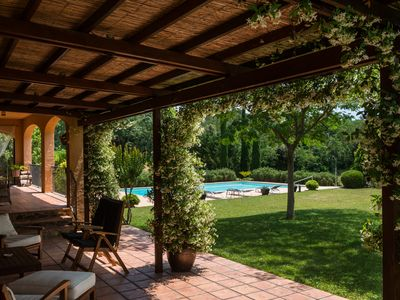 Photo for Country house with, pool, interior design, equipped, with a gate leading to a farm  2 ha in size, garden, surrounded by fences