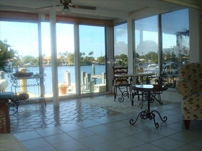 Direct intracoastal waterway - surrounding priv terrace area and heated pool
