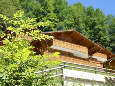 Photo for Chalet with phenomenal views and balcony (South)