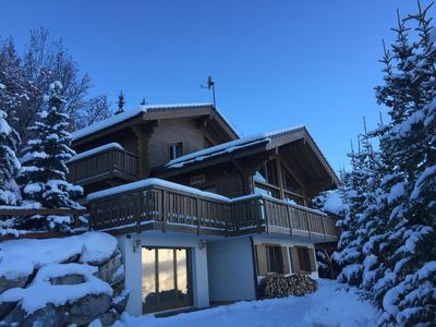 Photo for Family Friendly Modern Ski Chalet with Hot Tub & Fabulous Panoramic Views