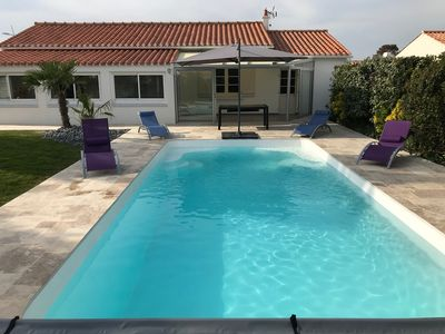 Photo for Near Beach VILLA 11 people with heated swimming pool on ground of 1000m ²