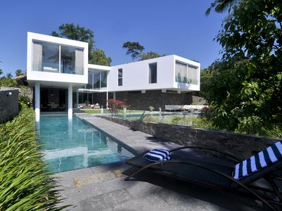 Photo for Stunning modern villa surrounded by lush rice fields