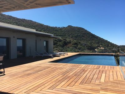 Photo for Ultra design villa - panoramic sea view - sun lounger - pool