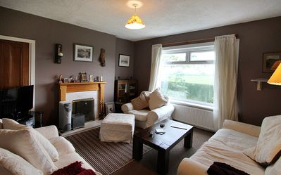 Lounge with open fire, Tv&DVD, & view to Walace Monument