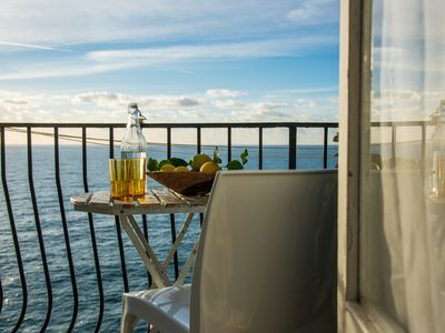 Photo for Appartamento Maestrale sopra- balcony with seaview