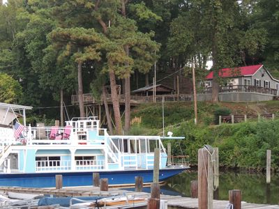 Photo for A Warm and Cozy 50' Houseboat in Gated, Quaint and Peaceful Marina near the cit