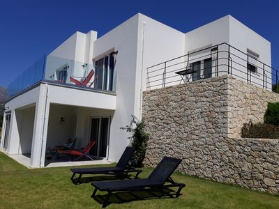 Photo for Private Villa, superb location with panoramic Sea View In Plakias