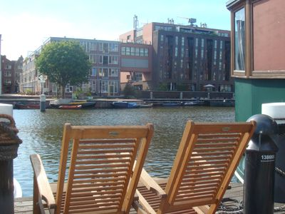 Very nice spacious houseboat in the center of Amsterdam .Jordaan Area.