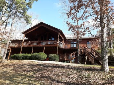 Photo for Large Lakefront Home, Lake Access, Upper & Lower Decks, Hot Tub