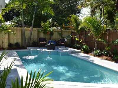 Photo for Lush Tropical Garden! Villa Tunis Modern Flat w Heated Pool, Near Center, Canals