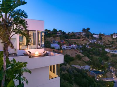 Photo for Sunset Castle Overlooking Los Angeles With Pool, Fire Pit and Dream Interior