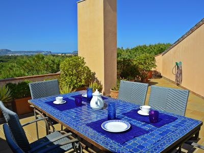Photo for Sea view Penthouse , Pool and garden. Three terraces. 4 Bedrooms. Capacity 10
