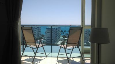Photo for Luxury Modern Beachfront Apt VFT/MA 04505 with panoramic sea views. Wifi & UK TV