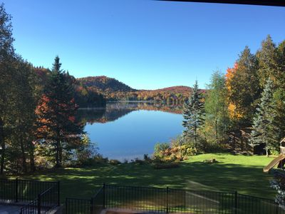 Photo for Laurentides Lake house with heated pool lakefront 6 bedrooms & 3 full baths!