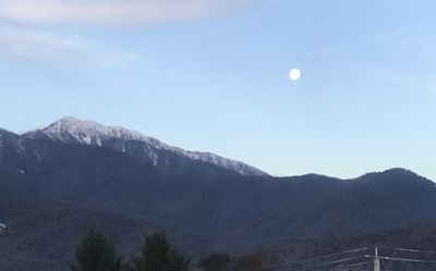 Snow caped Mt. Bogong view from Bed room 1.