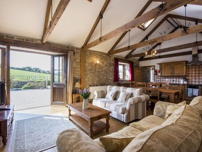 Photo for A stunning 17th century barn conversion in rural in west Cornwall.