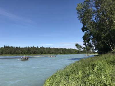 Photo for The Drift Boat Pass Right on the Kasilof River!