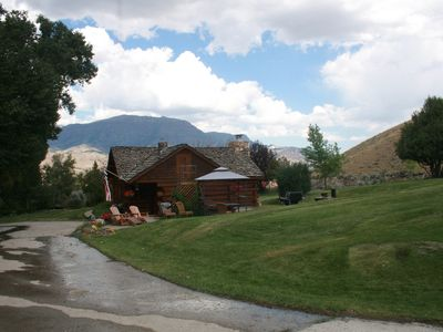 Photo for Beautiful Historical Cabin located half way between Yellowstone and Cody (2 BR)