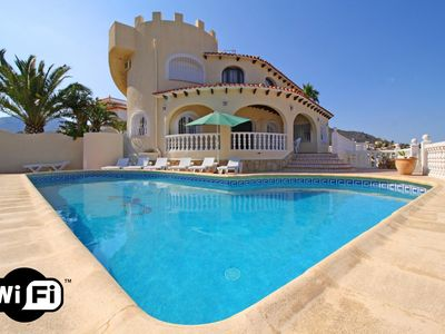 Photo for 7 bedroom Villa, sleeps 15 in Calpe with Pool, Air Con and WiFi