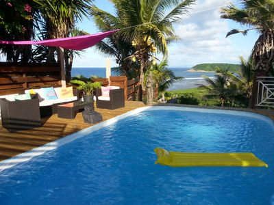 Photo for Luxury villa, sea views and large swimming pool, between Le_Moule and Saint-Francois