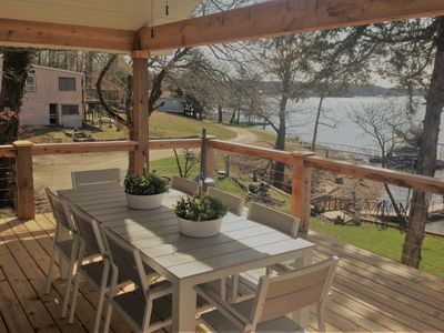 Photo for Summerset House - Vaulted Covered Lakefront Deck. 4 MM Gravois - Mill Creek Cove