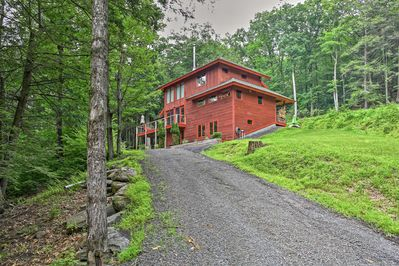Escape to Hudson Valley area & stay in this Mount Temper vacation rental house.