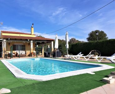 Photo for Villa with WIFI, pool, AC and barbecue in the Parc Natural de Mondragó