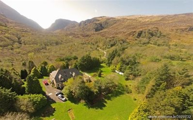 Arial view of Strickeen with Gap of Dunloe in background.