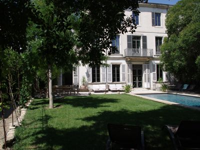 Photo for PROMOTION 20 / 07-27 / 07: The Duplessis gardens, heart of the city, Carpentras Provenc