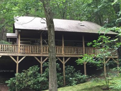 Photo for In Town! 3/2 Log Cabin In Boone; Park Like Setting; Dog Friendly