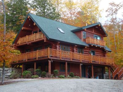 Photo for Maine Highland Lake Access Hand Crafted Log Home