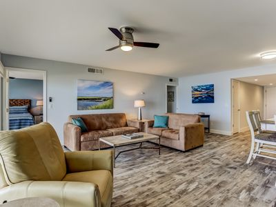 2019 RENOVATED, ABSOLUTELY STUNNING CONDO! 3 bedroom/2 bath OCEANFRONT condo.  Sleeps 6.