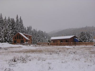 Photo for Beautiful, Secluded Log Cabin On 10 Acres 24 Miles From Breckenridge (Fairplay)