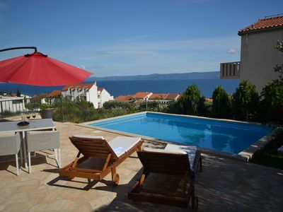 Photo for Holiday Home in Bol with Seaview, Terrace, Air condition, WIFI (3730-1)