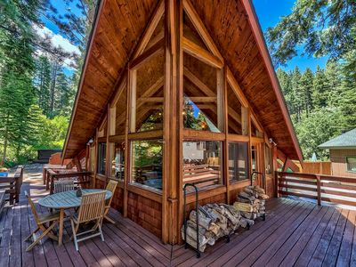 Photo for 3 Bdrm Quintessential Cabin in the Woods On a Creek Sleeps 6