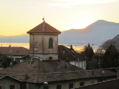 Photo for Modern 2-room apartment with a great terrace overlooking Lake Maggiore