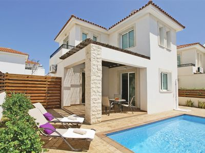Photo for A Brand New Family Villa with A/C, Private Pool and located in the lovely area of Pernera !