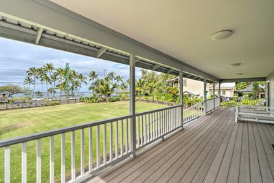 Soak in the views from the covered deck with your group of 4.