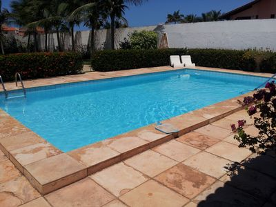 Photo for Beautiful house with great leisure area, 500mt from the beach park and the beach.