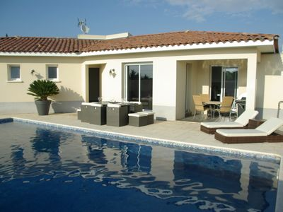 Photo for LUXURY VILLA, SECURE HEATED POOL. VILLA FURNISHED classified 4 stars NN