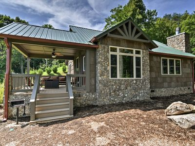 Photo for Smoky Mtn Cabin w/ View+Fireplace Near Bryson City