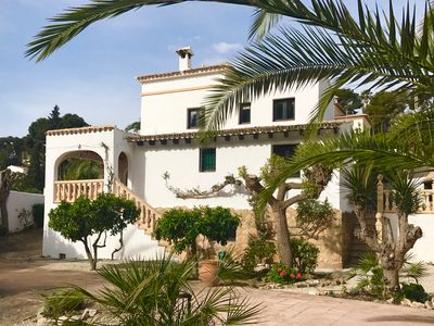 Photo for Villa, own pool, large private garden, 4 min stroll to sandy, El Portet beach