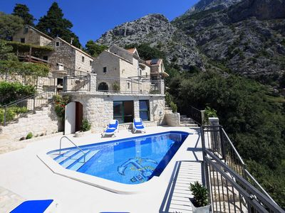Photo for ctma121/ Traditional stone house with private heated pool and whirlpool in Makarska, up to 8 persons