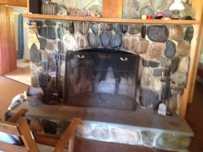 Photo for Beautiful cottage on Boyden Lake  with working stone fireplace.
