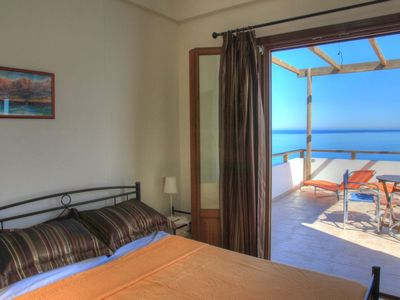 Photo for Villa Eirene   Spacious apartment with sea view in small village.